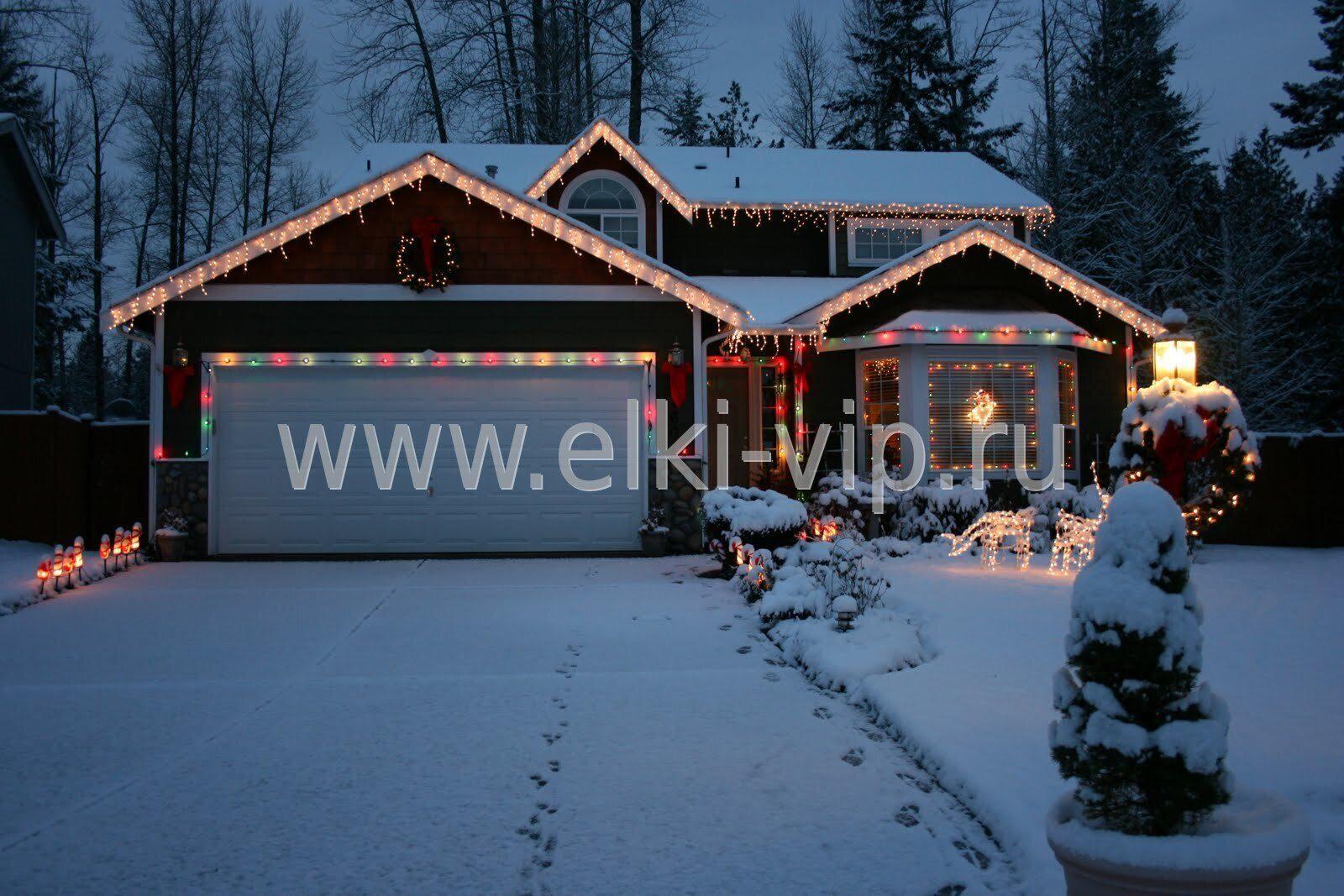Украшение загодонгого дома к новому году